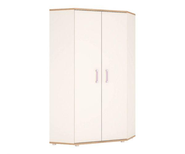 FTG 4Kids Corner Wardrobe with Lilac Handles