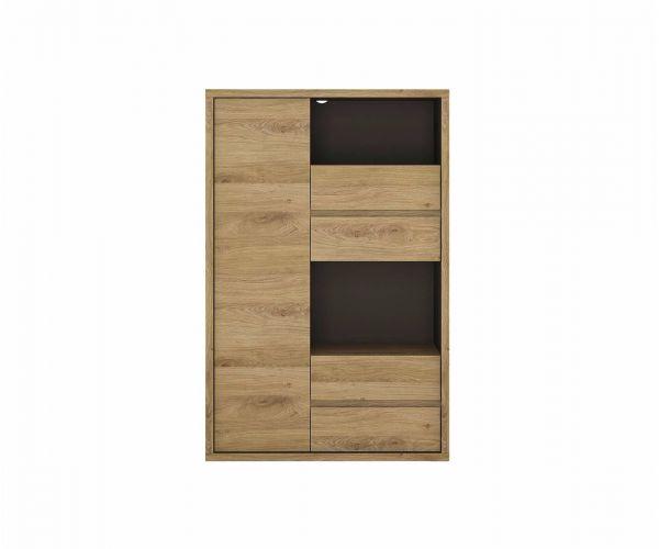 FTG Shetland 1 Door 4 Drawer Display Cabinet