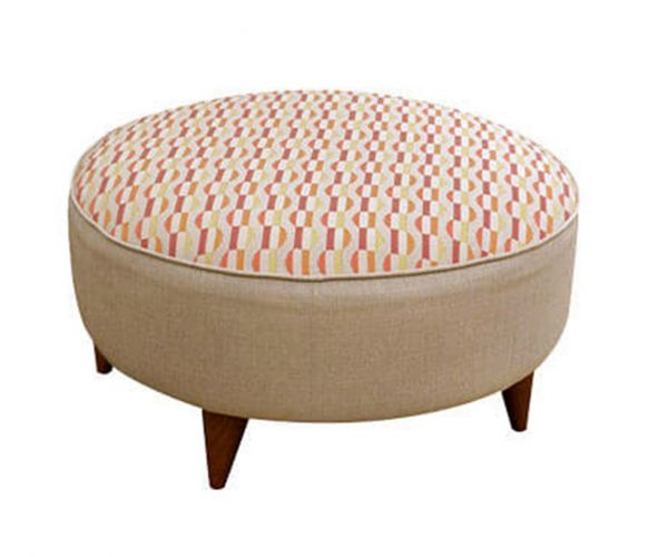 Buoyant Upholstery Carnival Fabric Footstool