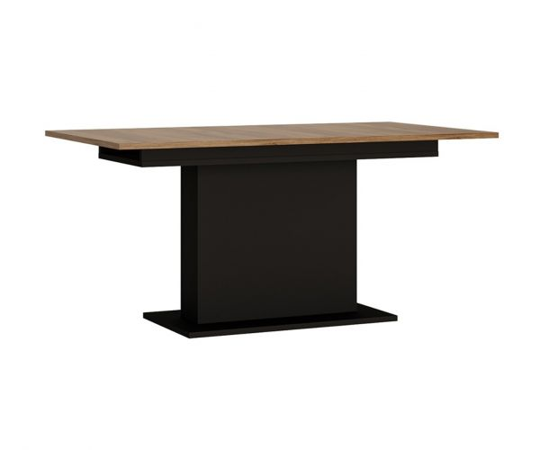 FTG Brolo Walnut and Dark Panel Finish Extending Dining Table