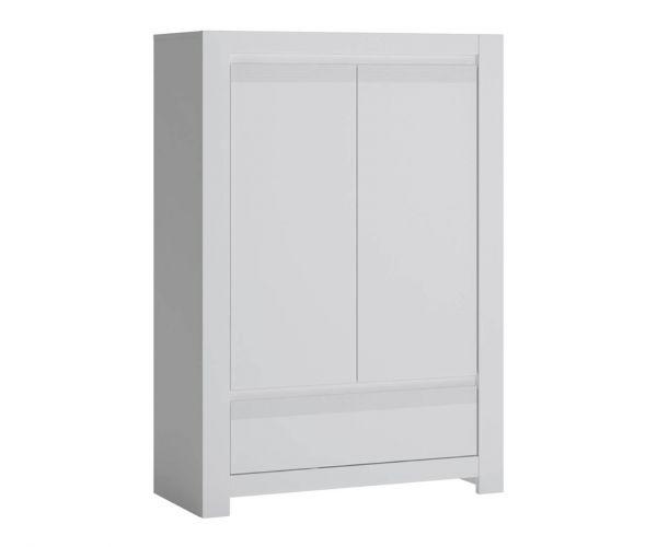 FTG Novi Alpine White 2 Door 1 Drawer Cabinet