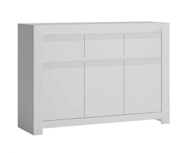 FTG Novi Alpine White 3 Door 3 Drawer Cabinet