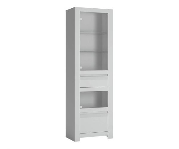 FTG Novi Alpine White Display Cabinet