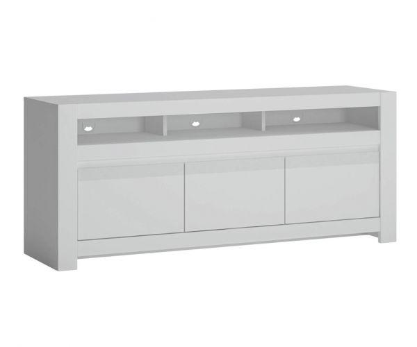 FTG Novi Alpine White 3 Door TV Cabinet