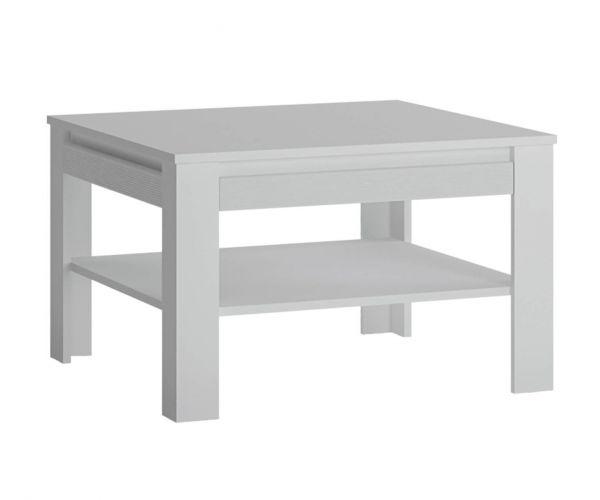 FTG Novi Alpine White Coffee Table with Shelf