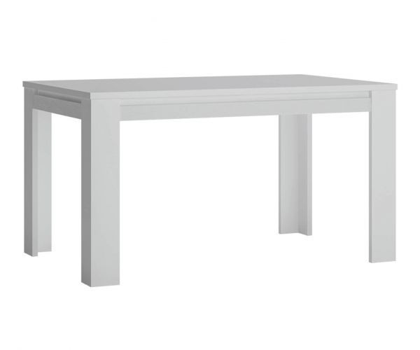 FTG Novi Alpine White Extending Dining Table