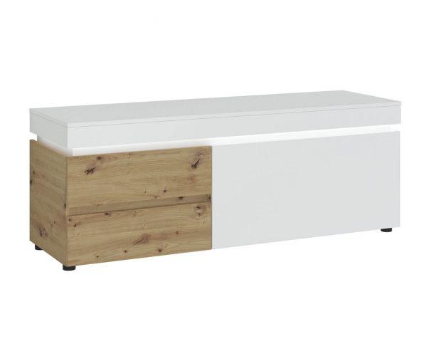 FTG Luci White and Oak 150cm 1 Door 2 Drawer TV Unit