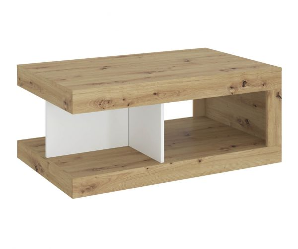 FTG Luci White and Oak Coffee Table
