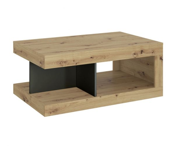 FTG Luci Platinum and Oak Coffee Table