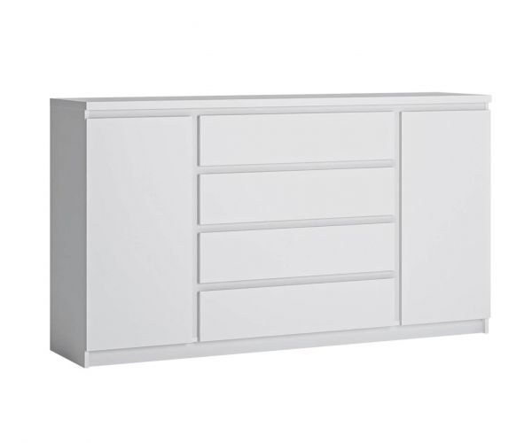 FTG Fribo White 2 Door 4 Drawer Wide Sideboard