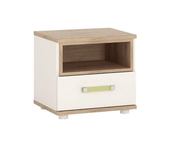 FTG 4Kids 1 Drawer Bedside Cabinet with Lemon Handles
