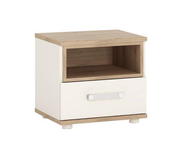 FTG 4Kids 1 Drawer Bedside Cabinet with Opalino Handles