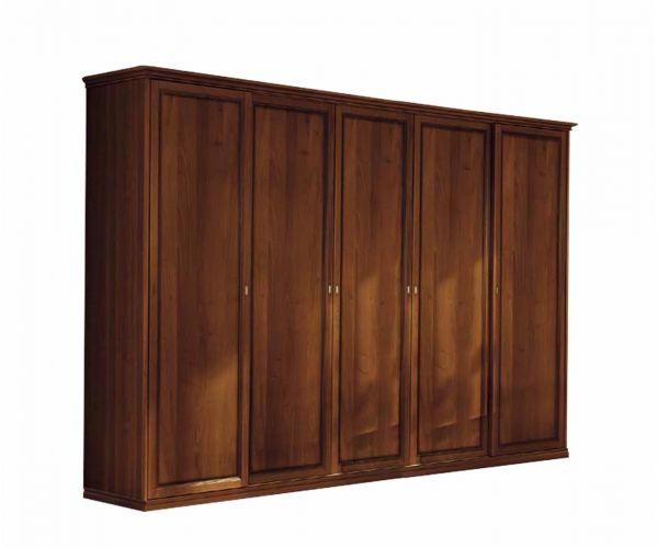 Camel Group Nostalgia Walnut Finish 5 Door Wardrobe