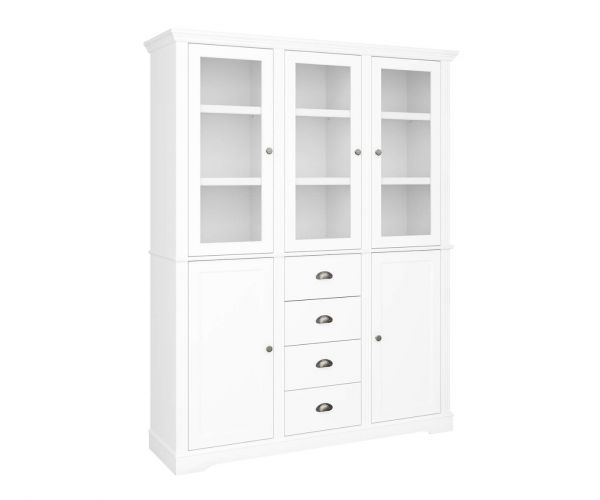 Steens Venice White 5 Door 4 Drawer Display Cabinet