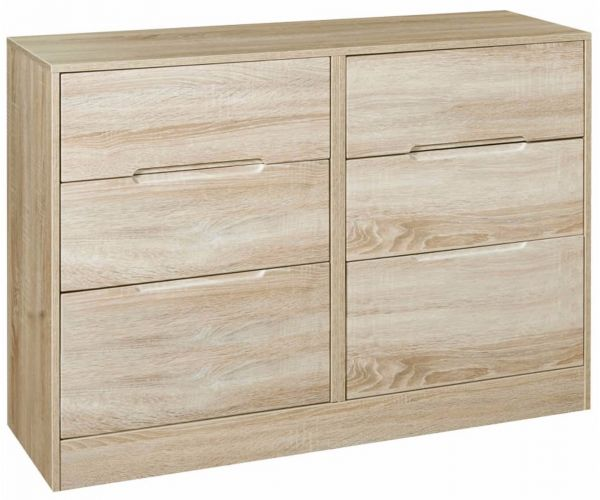Welcome Furniture Monaco Natural Finish 6 Drawer Midi Chest