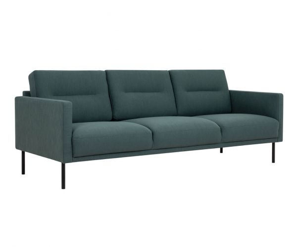 FTG Larvik Dark Green 3 Seater Sofa with Black Legs