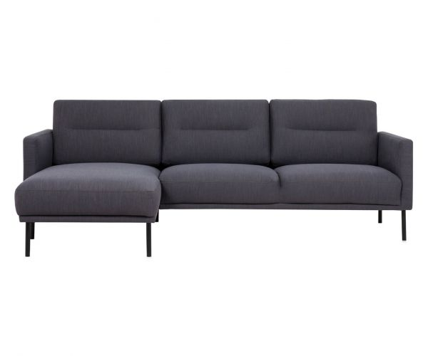 FTG Larvik Antracit Chaiselongue Sofa (LH) with Black Legs