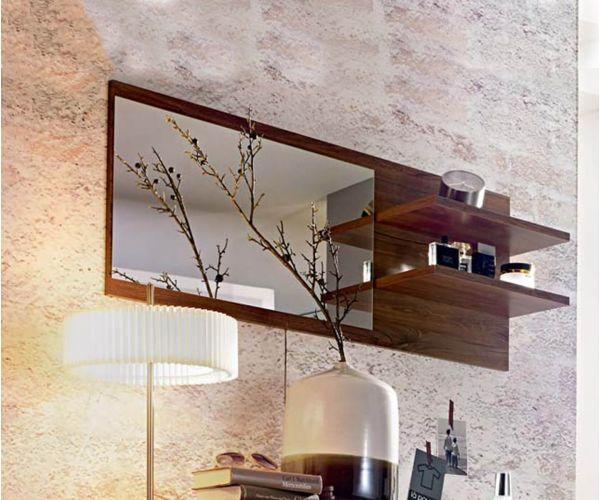 Rauch Aditio Wotan Oak Wall Mirror with 2 shelves