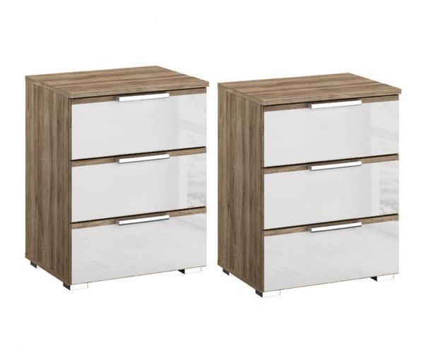 Rauch Terano 3 Drawer Bedside Table(Pair)