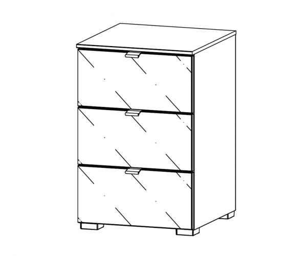 Rauch Erimo 3 Drawer Bedside Cabinet