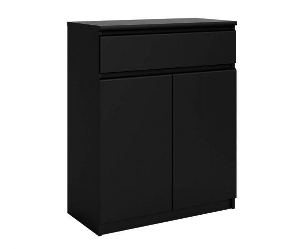 FTG Naia Black Matt 1 Drawer 2 Door Sideboard