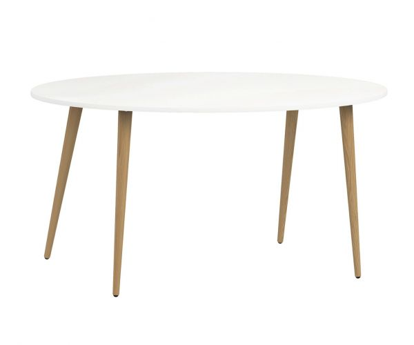 FTG Oslo White and Oak Large (160cm) Dining Table