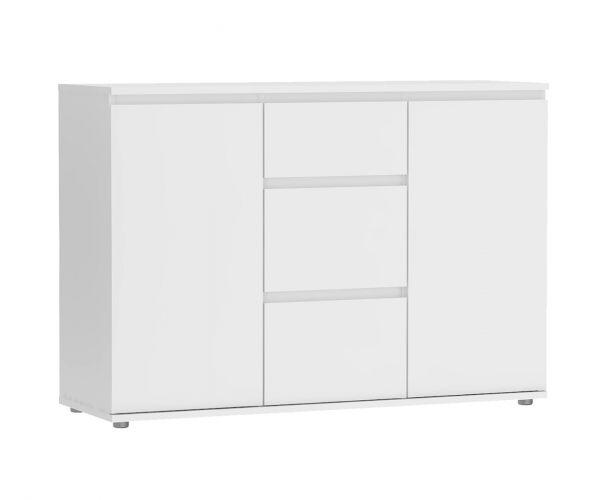 FTG Nova White 3 Drawer 2 Door Sideboard
