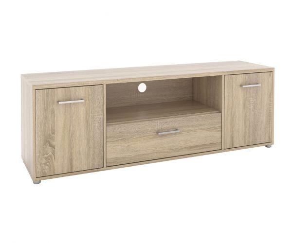 FTG Match Oak 2 Door 1 Drawer TV Unit with Shelf