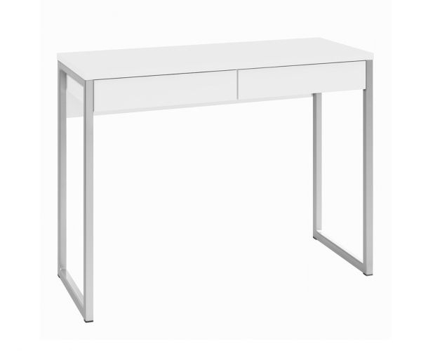 FTG Function Plus White High Gloss 2 Drawer Desk