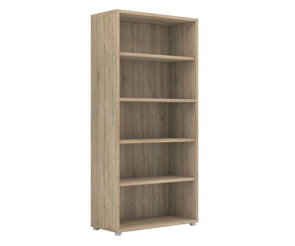 FTG Prima Oak Bookcase with 4 Shelves
