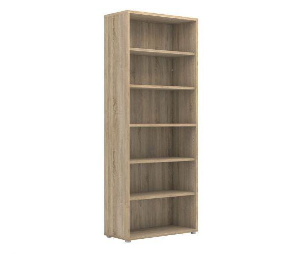 FTG Prima Oak Bookcase with 5 Shelves
