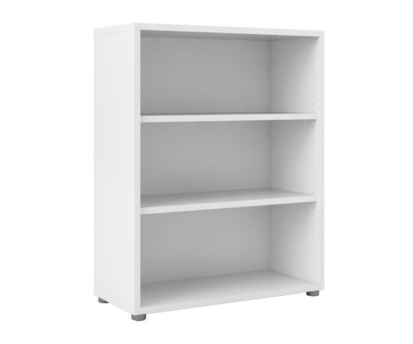 FTG Prima White Bookcase with 2 Shelves