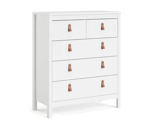FTG Barcelona White 3 + 2 Drawer Chest