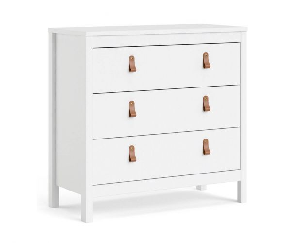 FTG Barcelona White 3 Drawer Chest