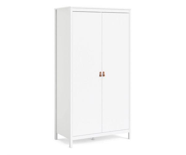 FTG Barcelona White 2 Door Wardrobe