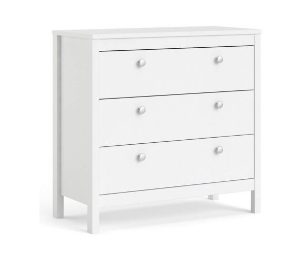 FTG Madrid White 3 Drawer Chest