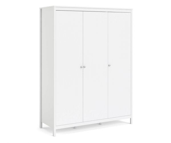 FTG Madrid White 3 Door Wardrobe