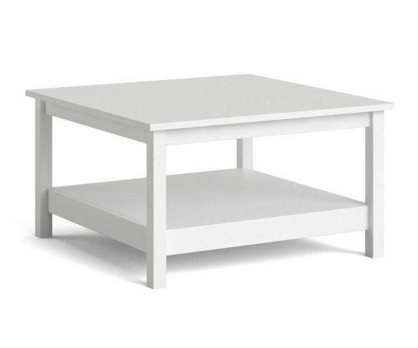 FTG Madrid White Coffee Table