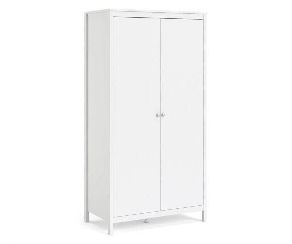 FTG Madrid White 2 Door Wardrobe