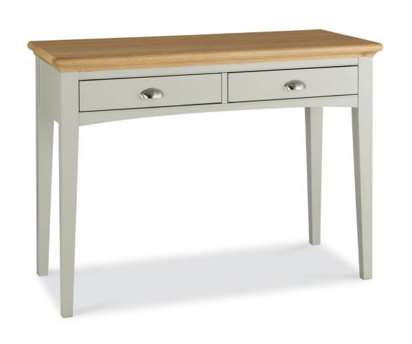 Bentley Designs Hampstead Soft Grey and Pale Oak Dressing Table