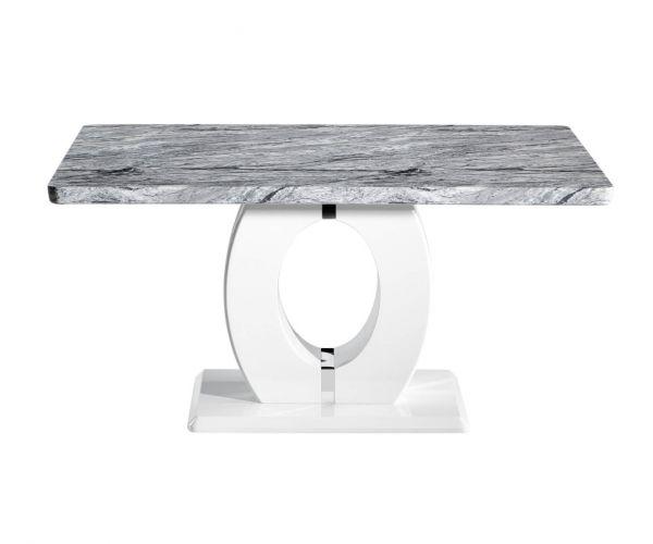Shankar Neptune Medium Marble Effect Top Dining Table