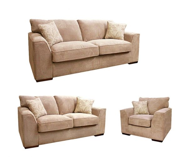 Buoyant Upholstery Newark Fabric 3+2+1 Sofa Set