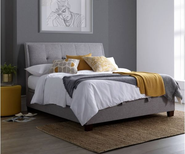 Kaydian Beds Accent Marbella Grey Fabric Ottoman Bed Frame