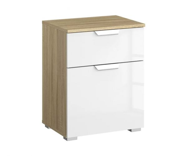 Rauch Aditio 1 Door 1 Drawer Bedside Table with Sanremo Oak Front