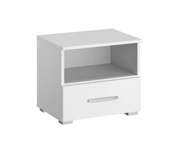 Rauch Aditio 1 Drawer Bedside Table with Glass Basalt Front