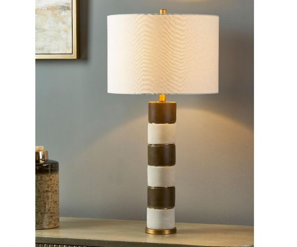 Derrys Furniture Aida White Table Lamp
