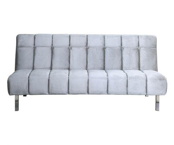 Sweet Dreams Alabama Silver Plush Velvet Sofa Bed