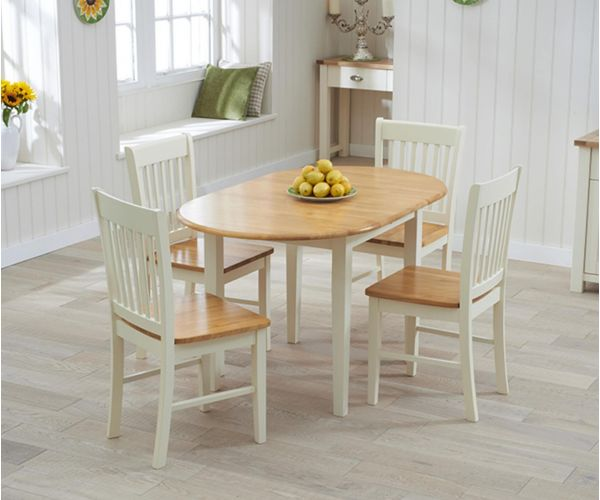 Mark Harris Alaska Oak and Cream Extending Dining Table Only