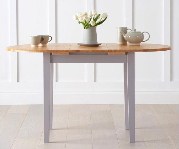 Mark Harris Alaska Oak and Grey Extending Dining Table Only