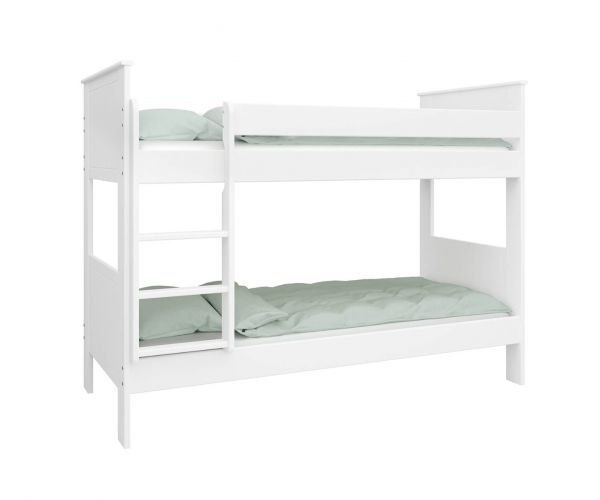 Steens Alba Kids White Bunk Bed Frame